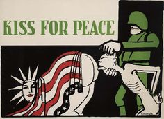 Poster. TOMI UNGERER (1931 - ) KISS FOR PEACE.