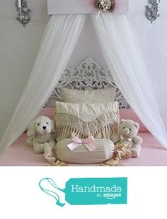 Shabby Chic Princess Bed Crown Canopy Crib Baby Nursery Decor Princess Girl's…