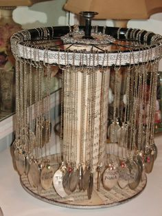Use a Jewelry Armoire To Store Your Precious Jewelry Pieces Jewellery Storage, Jewelry Organization, Jewellery Display, Boutique Jewelry Display, Diy Necklace Display, Craft Fair Displays, Store Displays, Display Ideas, Booth Ideas