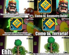 Terraria Memes, Crash Team Racing, Rhythm Games, Gd, Geometry, Dragon Ball, Videogames, Funny Quotes, Christmas Ornaments