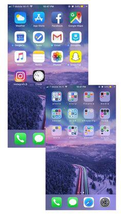 Organisation des iPhone-Startbildschirms - New Sites Organize Apps On Iphone, Iphone Information, Cute Screen Savers, Iphone Secrets, Iphone App Layout, Phone Organization, Phone Icon, Homescreen, Iphone Wallpaper