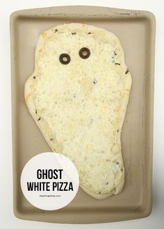 Ghost pizza for Halloween