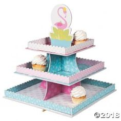 Flamingo Treat Stand -  Party Supplies, Ideas, Accessories, Decorations, Games - PartyNet