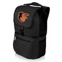 Picnic Time Baltimore Orioles Zuma Backpack Cooler, Black