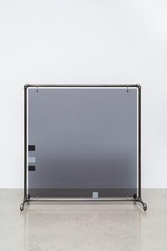 Josephine Meckseper - Alphaville, Acrylic sheeting, acrylic paint, blackened, nickel-plated, steel stand, 127.6 x 124.5 x 59.7 cm