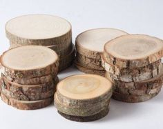 SALE 20 assorted wood slices, rustic wood slices for weddings,  favors, crafts & more - set of 20 blank wood slices for christmas tags