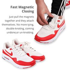 2 Pairs of Magnetic No-Tie Shoelaces