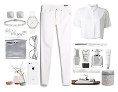 """white"" by michelledhrm ❤ liked on Polyvore"