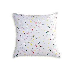 splatter paint pillow