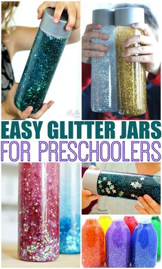 Glitter Jar tutorials that are perfect for the classroom or home. These calming glitter jars are an amazing tool to help soothe children through big emotions, anxiety, and to help as a self-regulation technique. These also make fabulous timers. #glitter #sensory #behavior #preschool