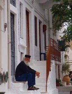 Greek Man in Apiranthos - Naxos, Greece. See more: www.UnhookNow.blogspot.com