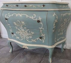 painted dresser beatrice before after, chalk paint, painted furniture