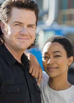 Josh McDermitt and Sonequa Martin-Green behind the scenes of The Walking Dead Season 7 Episode 16 | The First Day of the Rest of Your Life