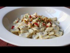 Gorgonzola Cream Sauce - Creamy Pasta Sauce Recipe with Gorgonzola, Apples, and Walnuts