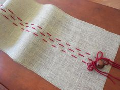 Christmas table runner rustic burlap christmas decoration holiday table decor by DaniellesCorner on Etsy https://www.etsy.com/listing/164912845/christmas-table-runner-rustic-burlap