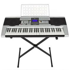 nice 61 Key Electronic Music Keyboard Electronic Piano With X Stand LCD Display Screen by Best Choice Products