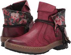 Rieker Blau Boots Boots Multi Mit Floralem Print,Rieker 2017