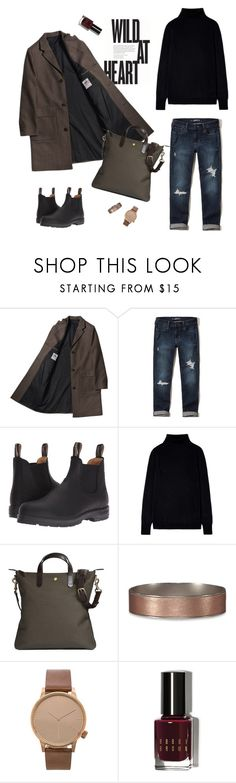 """""""saturday mood"""" by zhannacorr ❤ liked on Polyvore featuring Hollister Co., Blundstone, Abercrombie & Fitch, Komono and Bobbi Brown Cosmetics"""