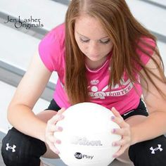 Senior portraits for volleyball players