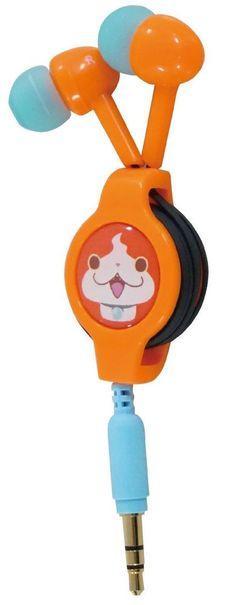 New! Yokai Watch Bandai Reel Stereo Earphones Jibanyan Japan
