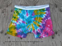 Multi Color Spiral Tie Dye Underwear