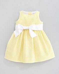 Ralph Lauren Childrenswear Sleeveless Pincord Dress, Yellow | Bergdorf Goodman