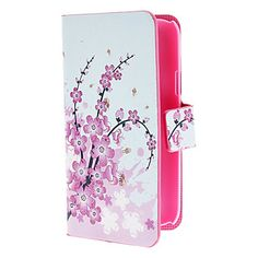 Mini Elegant Flower Pattern PU Leather Case with Magnetic Snap and Card Slot for Samsung Galaxy S4 mini I9190 – AUD $ 9.88
