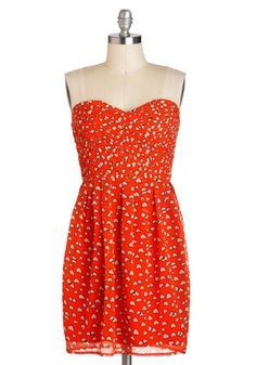 Red and White Heart Print Dress with Sweetheart Neckline (Follow Your Heart Dress, #ModCloth)