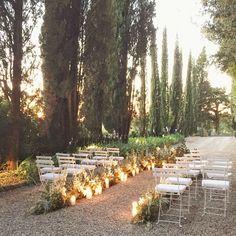 Tuscany, Italy #weddingceremony #eucca floral design #josevilla