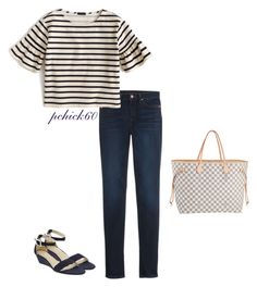 """Ootd 07-16-16"" by pchick60 ❤ liked on Polyvore featuring Louis Vuitton, Old Navy and J.Crew"