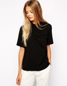 High Neck top with Twist Detail
