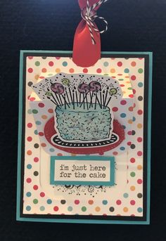 Let's Eat Cake stamp set and Window Pop Die from Fun Stampers Journey