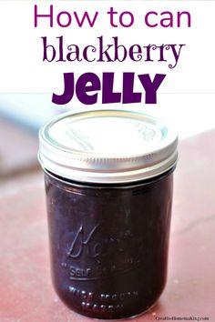 Easy recipe for canning seedless blackberry jelly. One of my favorite jelly recipes for canning. Seedless Blackberry Jelly Recipe, Blackberry Jam Recipes, Canning Soup Recipes, Pressure Canning Recipes, Canning Blackberries, Canning Vegetables, Veggies, Jam And Jelly, Jelly Recipes