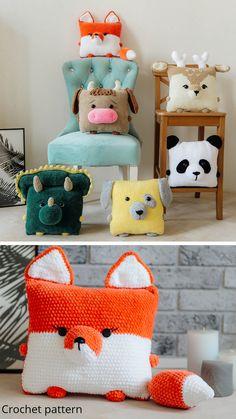 Crochet Home, Crochet Gifts, Cute Crochet, Crochet For Kids, Crochet Baby, Crochet Animal Patterns, Crochet Patterns Amigurumi, Crochet Dolls, Crochet Cushions