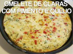 Omelete de Claras com Pimento e Queijo