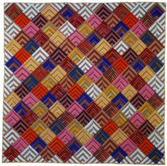 Chevrons quilt, in: 'Kaffe Fassett – A Life in Colour' exhibit.  London, 22 March- 29 June 2013