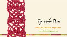 http://www.tejiendoperu.com/ Una linda cenefa con puntos piñas de 4 puntos varetas!