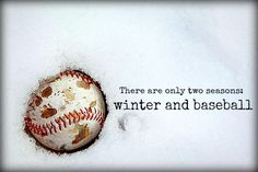 There are only two seasons...winter & baseball! Esp in our house!!! :) ⚾