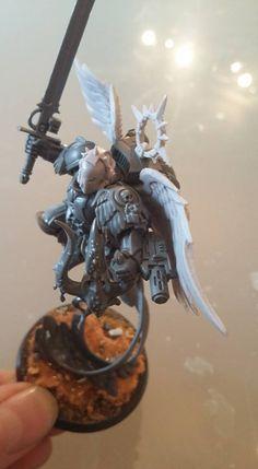 Sigmar Blood Angel Warhammer Art, Warhammer 40k Miniatures, Warhammer 40000, Warhammer 40k Blood Angels, Elf Warrior, Armours, Fantasy Miniatures, The Grim, Space Marine