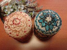 HENNA DESIGN CANDLES -due candele decorate stile henna di scintilledicolore su Etsy