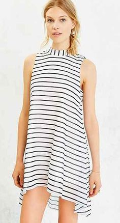 sleeveless, high-low hem, striped dress. the cutest part is the bow in the back :)