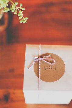 handmade bakers twine favors // photo by Brown Paper Parcel Photography