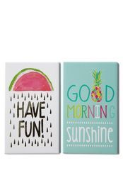 set 2 quirky magnets, SUNSHINE