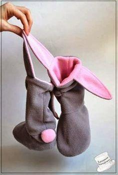 DIY : des bottes lapin pour enfant sage!