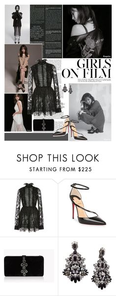 """""""Turn around, I'm right here."""" by ita-varela ❤ liked on Polyvore featuring Haze, Elie Saab, Christian Louboutin, Dsquared2 and Givenchy"""