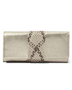 a sleek clutch for summer work days  via: whitehouseblackmarket.com