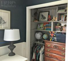 When faced with a mess, it's often our instinct to conceal with storage bins or doors. But in the case of our son's closet, the answer was actually to remove the doors completely.While it wasn't a …
