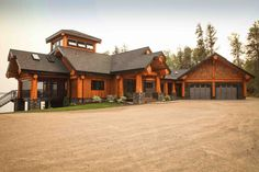 Post and Beam log homes are one of Artisan Log Homes most popular log home style to design and build. View our custom log homes here! Barnwood Builders, Log Cabin Homes, Log Cabins, Mountain Cabins, Log Home Interiors, Log Home Designs, Wooden Cabins, Post And Beam, Home Photo