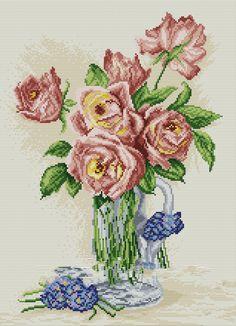 Kanaviçe Saksıda Çiçek Şablonları (1)