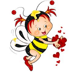Cute Love Bees - Funny Honey Bee's